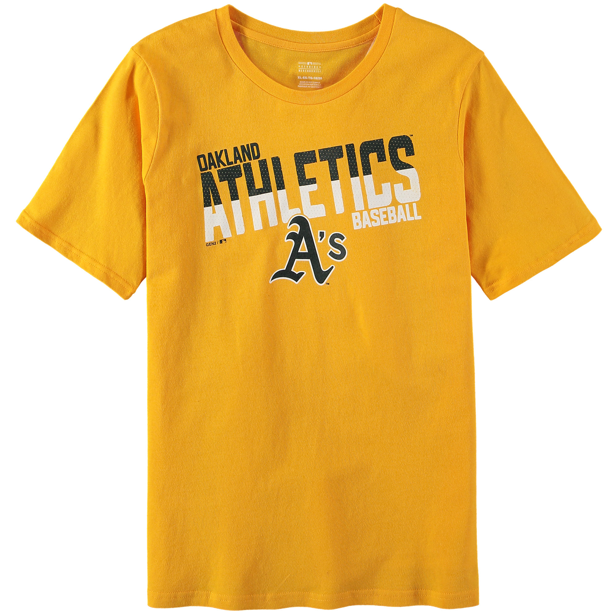 Oakland Athletics Youth Alternate All Meshed Up T-Shirt - Gold