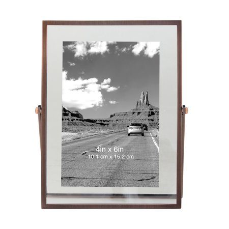 Better Homes & Gardens Antique Copper Floating Photo Frame with Metal Easel