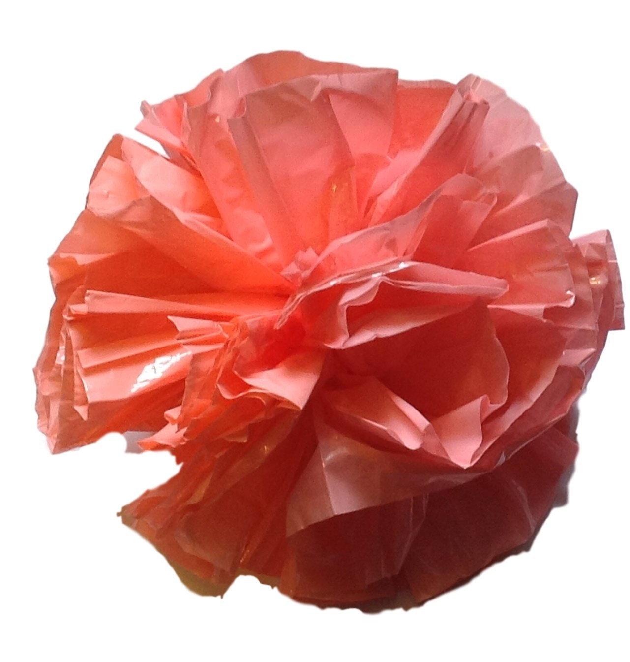 "25 Car Limo wedding Decoration Plastic Pom Poms Flower 4"" - coral"