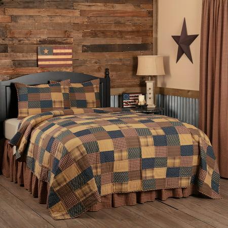 Patriotic Patch California King Quilt Set 1 Quilt 130wx115l W 2