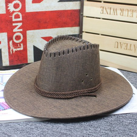 KABOER Retro Cowboy Hat Look Wild West Men Ladies Cowgirl Unisex Hat