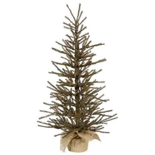 4' Vienna Twig Artificial Christmas Tree in Burlap Base - Unlit