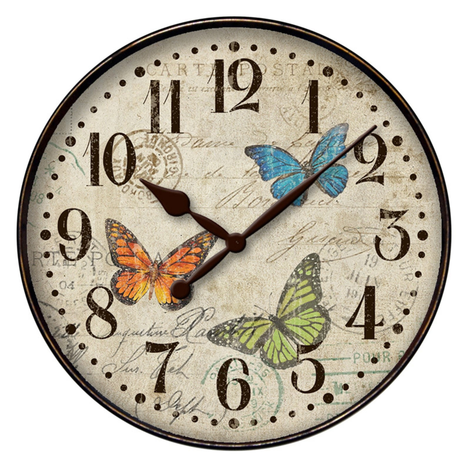 "Westclox 32897BF 12"" Round Butterfly Wall Clock- Home Decor"