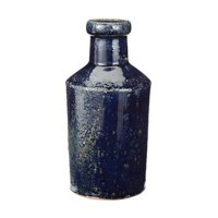 "8"" Denim Blue Rustic Milk Vase Bottle"
