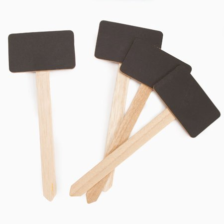 Craftwood Small Chalkboard Stake Signs - 7.5 Inches - 4 Pieces](Small Chalk Boards)