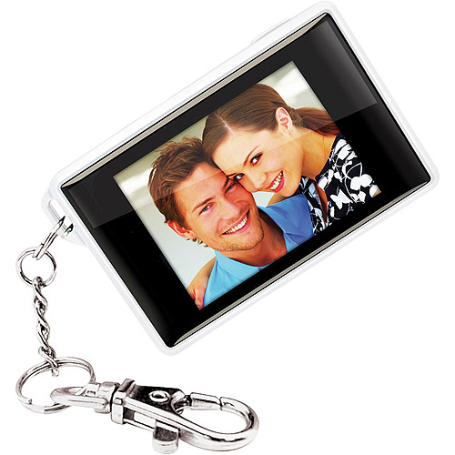 "Coby 1.8"" Digital Photo Frame Key Chain - White"