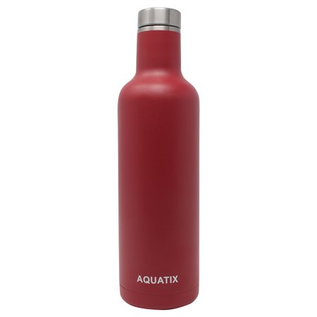 Aquatix Red 25 Ounce Pure Stainless Steel Double Wall