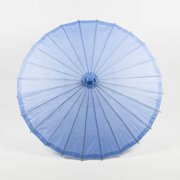 "Quasimoon 20"" Serenity Blue Paper Parasol Umbrella for Weddings and Parties by PaperLanternStore"