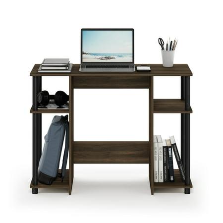 Furinno 15112 JAYA Compact Computer Study Desk, Columbia Walnut/Black