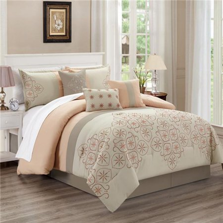 Elight Home 21706q Una Comforter Set 44 Pink Queen Size 7 Piece Walmart Canada