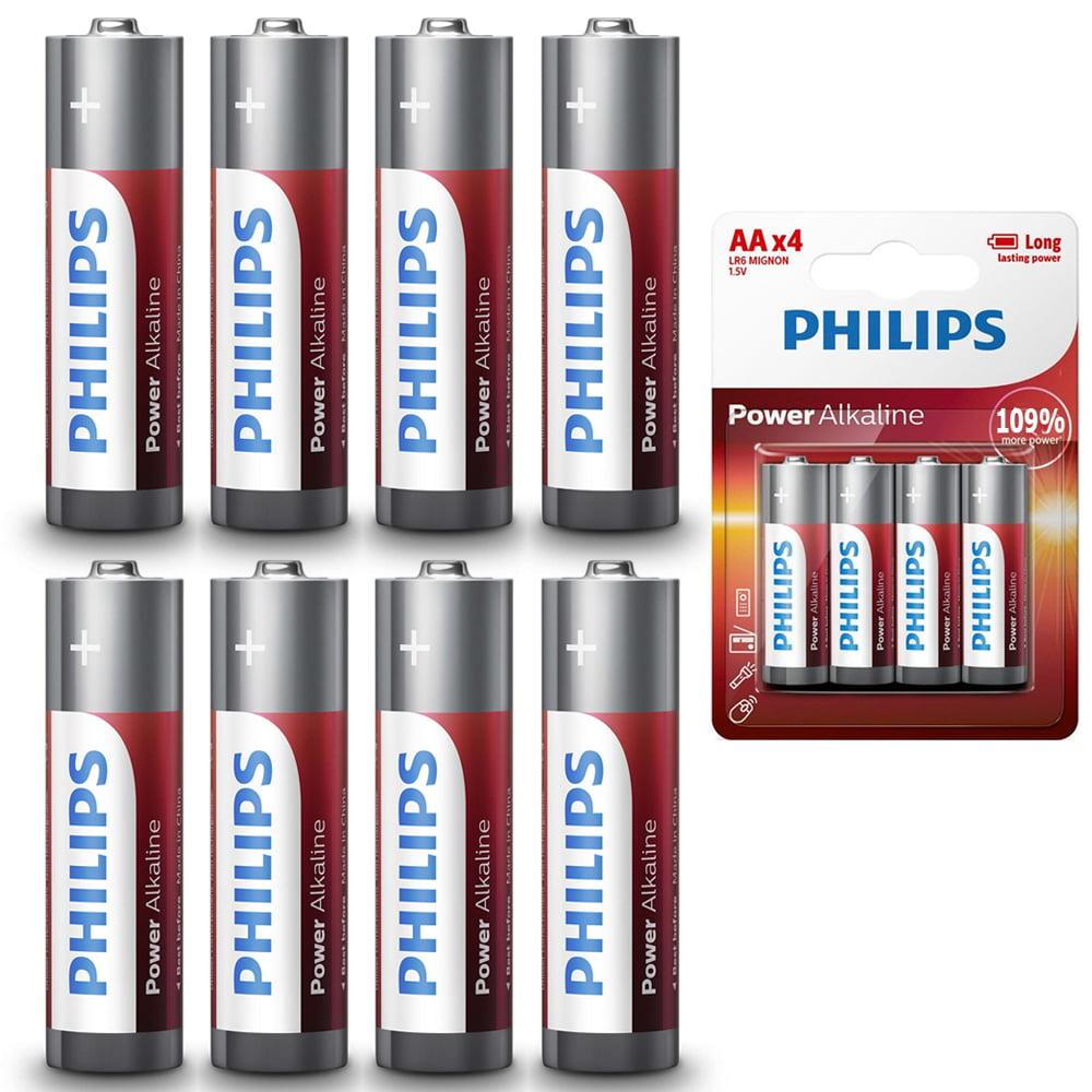 48Pc AA Batteries Philips Power Alkaline LR6 1.5V Bulk Long Lasting Exp 2026 Lot