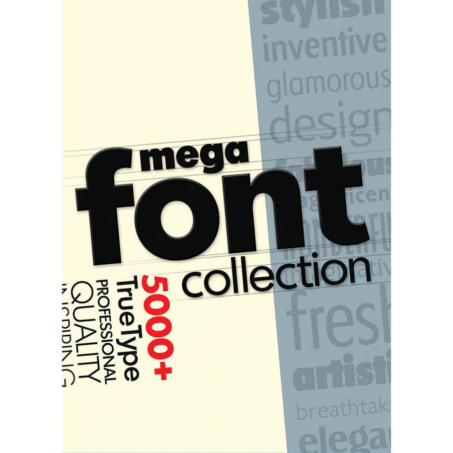 Encore Software 39773 MegaFont Collection (Digital Code)