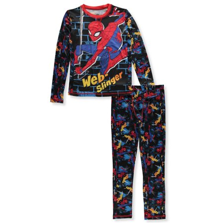 Best Spiderman Suits (Spider-Man Boys' 2-Piece Long Underwear)