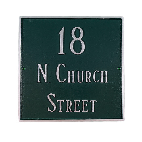 Montague Metal Products Inc. Classic Standard Square Address Plaque