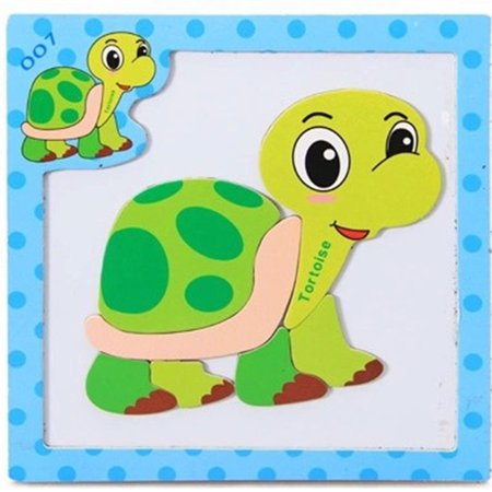 Educational Toy Children Magnetic Jigsaw Puzzle Lovely Animals Puzzle for Boys and Girls Specification:Tortoise - Jigsaw Puzzles For Kids