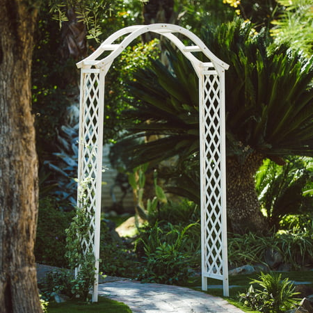 Coral Coast Shoreview 7-ft. White Wood Arbor ()