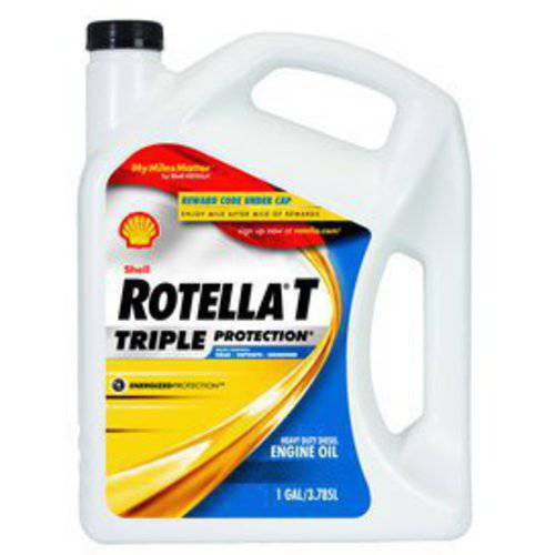 Shell Rotella T 15W-40 Heavy Duty Diesel Oil, 1 gal.