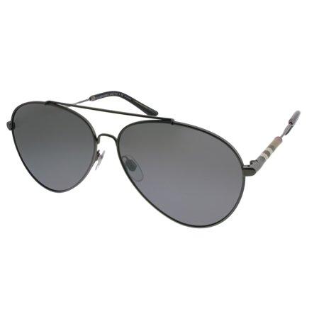 Burberry BE3092Q 60mm 101482 (Burberry Gunmetal Sunglasses)