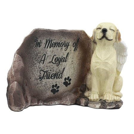 """Ebros """"In Memory Of A Loyal Friend"""" Labrador Retriever Dog With Angel Wings Statue 8.5""""Long All Dogs Got To Heaven Inspirational Figurine Labrador Pet Memorial Sculpture"""