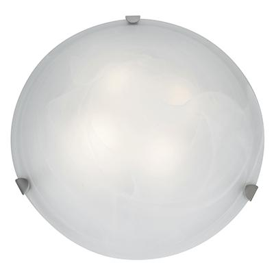 Access Lighting  23021  Ceiling Fixtures  Mona  Indoor Lighting  Flush Mount  ;Brushed Steel / Alabaster