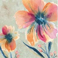 Paper Luncheon Napkin, 40 count, Peach Floral Dream