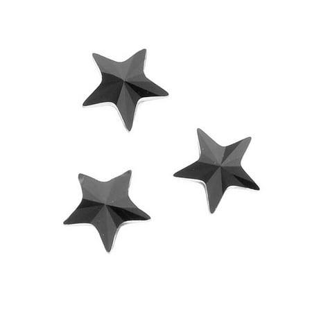 Swarovski Crystal, #2816 Rivoli Star Flatback Rhinestone 5mm, 10 Pieces, Jet