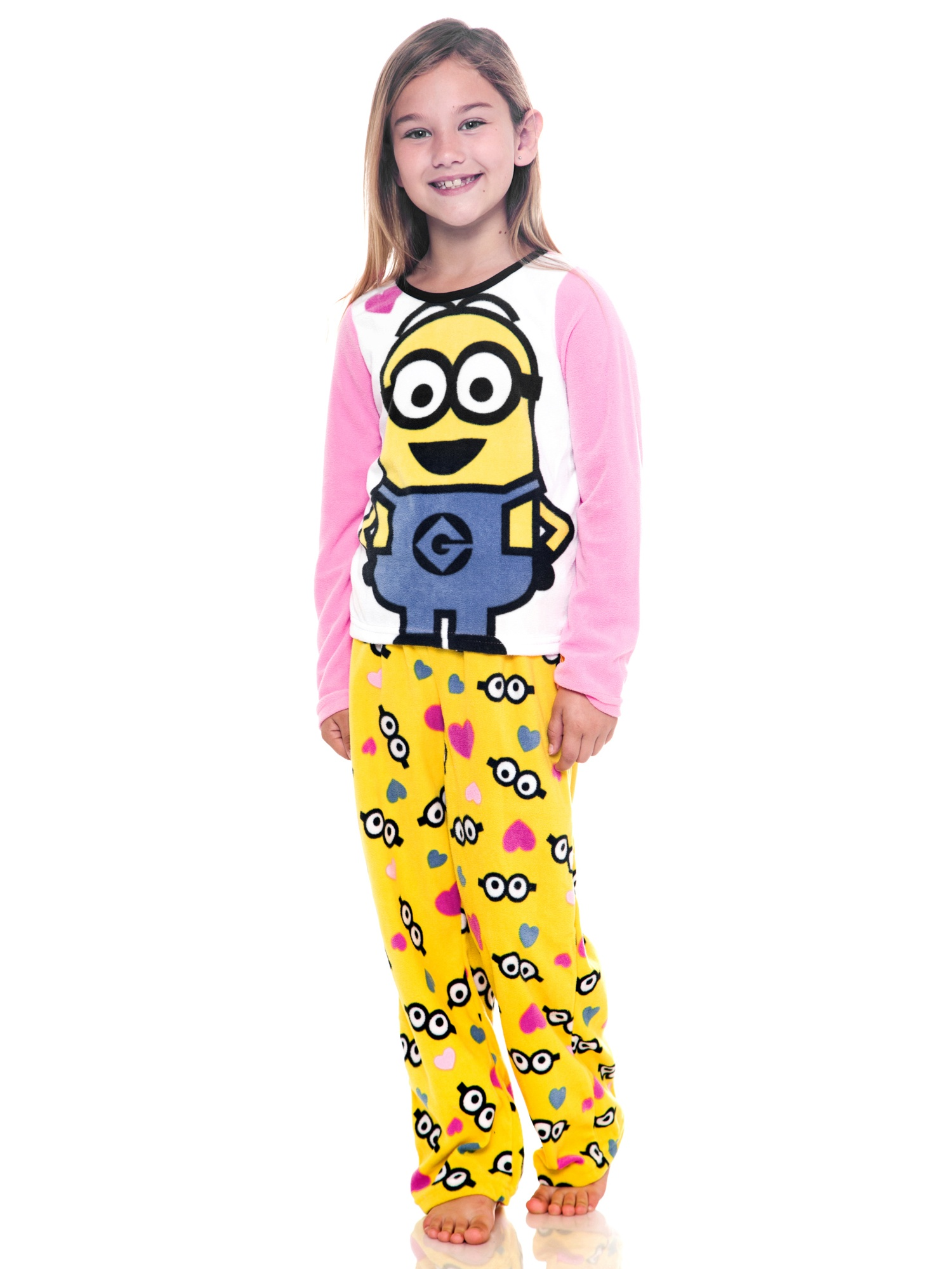 Official Licensed Girls Despicable Me Minions Combo Mitts Pink Age 8-12 Years