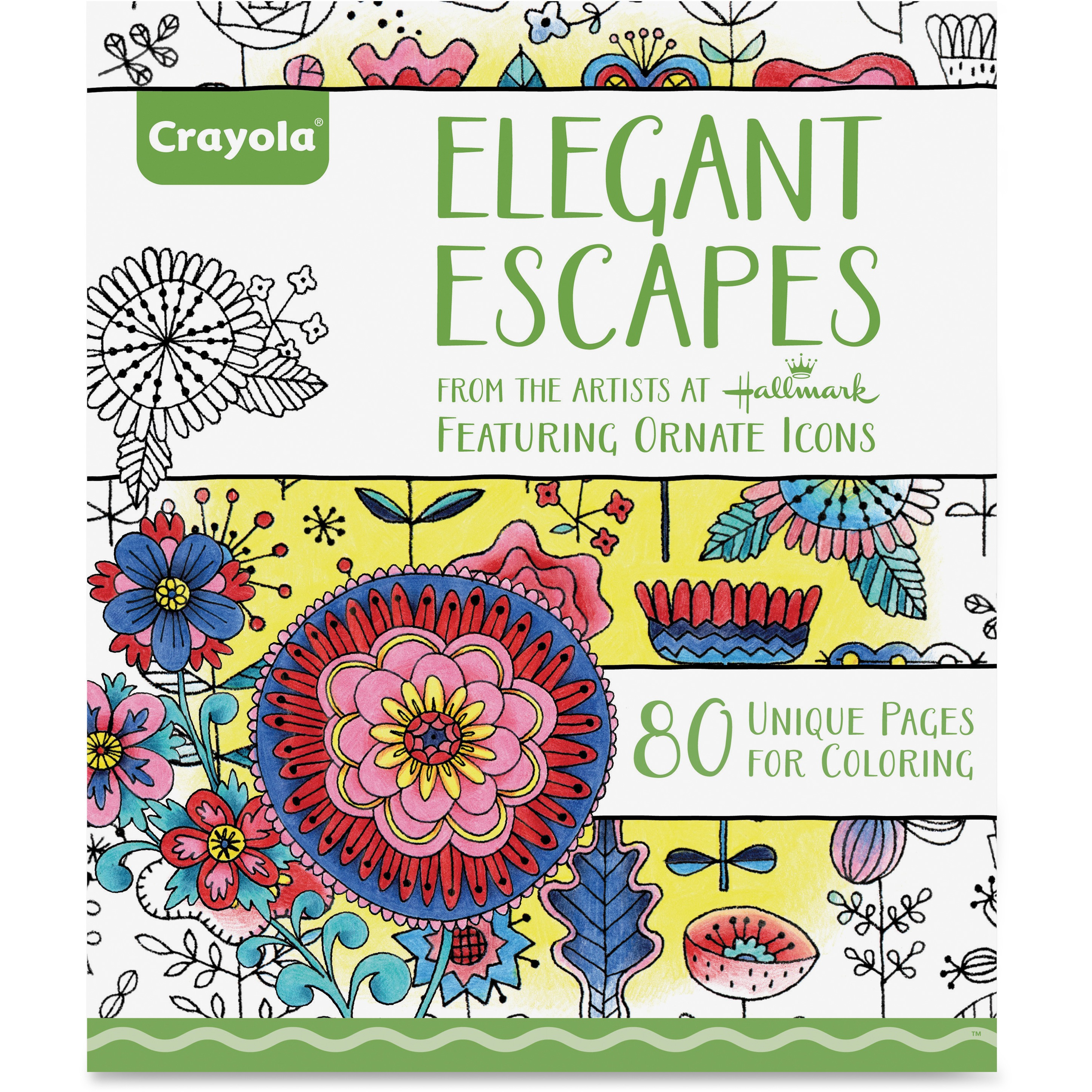 Crayola Elegant Escapes Adult Coloring Book With 80 Designs