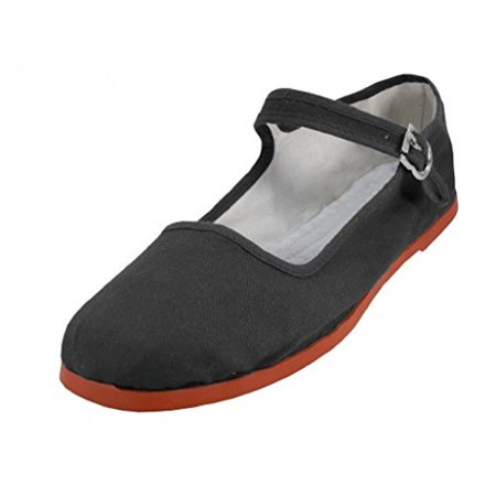 - Shoes 18 Womens Cotton China Doll Mary Jane Shoes Ballerina Ballet Flats Shoes 11 Colors (5, 114 Black Canvas)