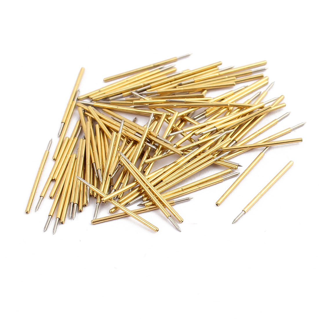 100pcs P50-B1 0.68mm Dia 15.7mm Length Metal Spring Pressure Test Probe Needle