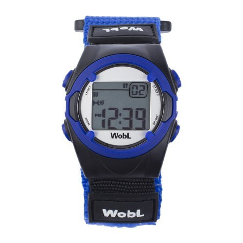 WobL Black 8 Alarm Vibrating Reminder Watch by KnoxWatches