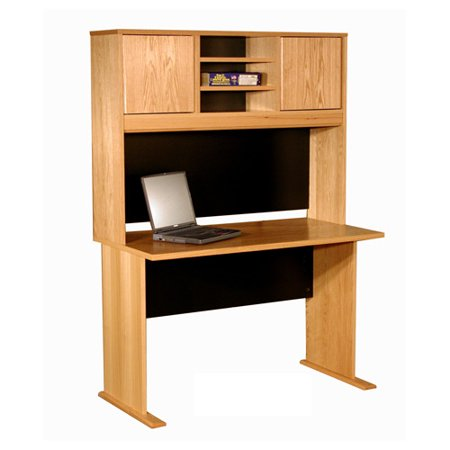 Rush Furniture Office Modulars Desk Shell with 2 Cabinets