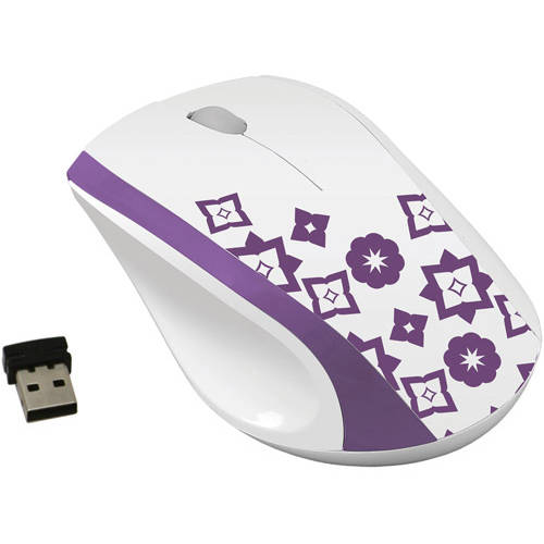 FileMate Imagine Series M2810 Wireless Optical Mouse, White/Assorted Pattern