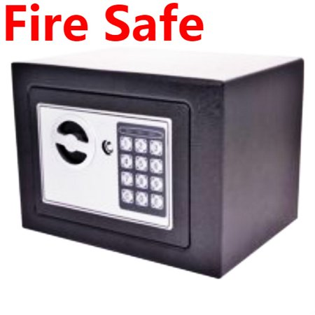 Homdox Digital Electronic Fire Safe Security Lock Box Wall Jewelry
