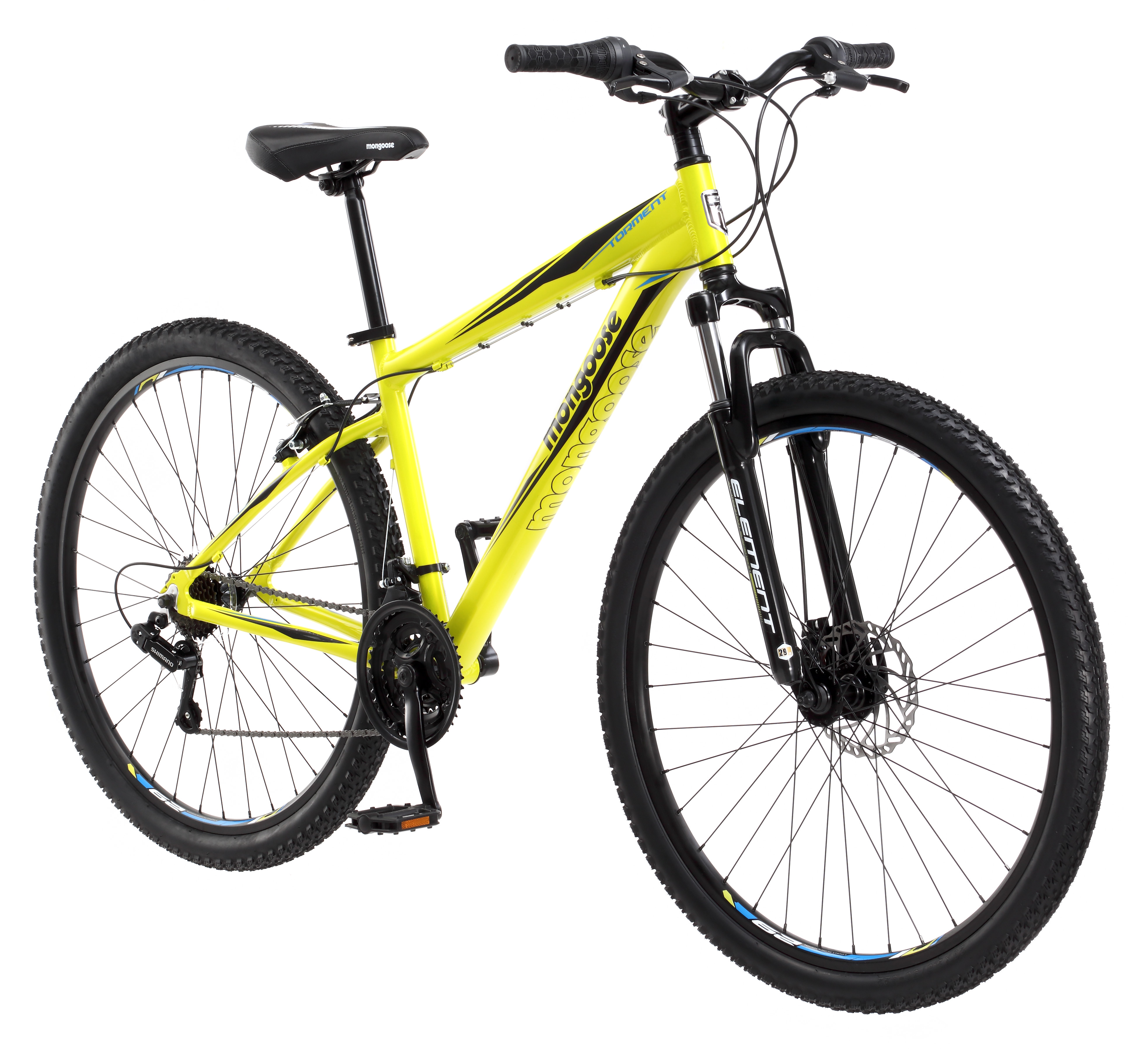 "29"" Mongoose Torment Men's Mountain Bike, Yellow"