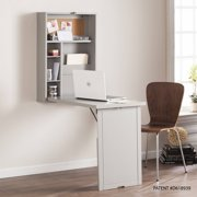 Southern Enterprises Ailgo Fold-Out Convertible Wall Mount Desk, Gray
