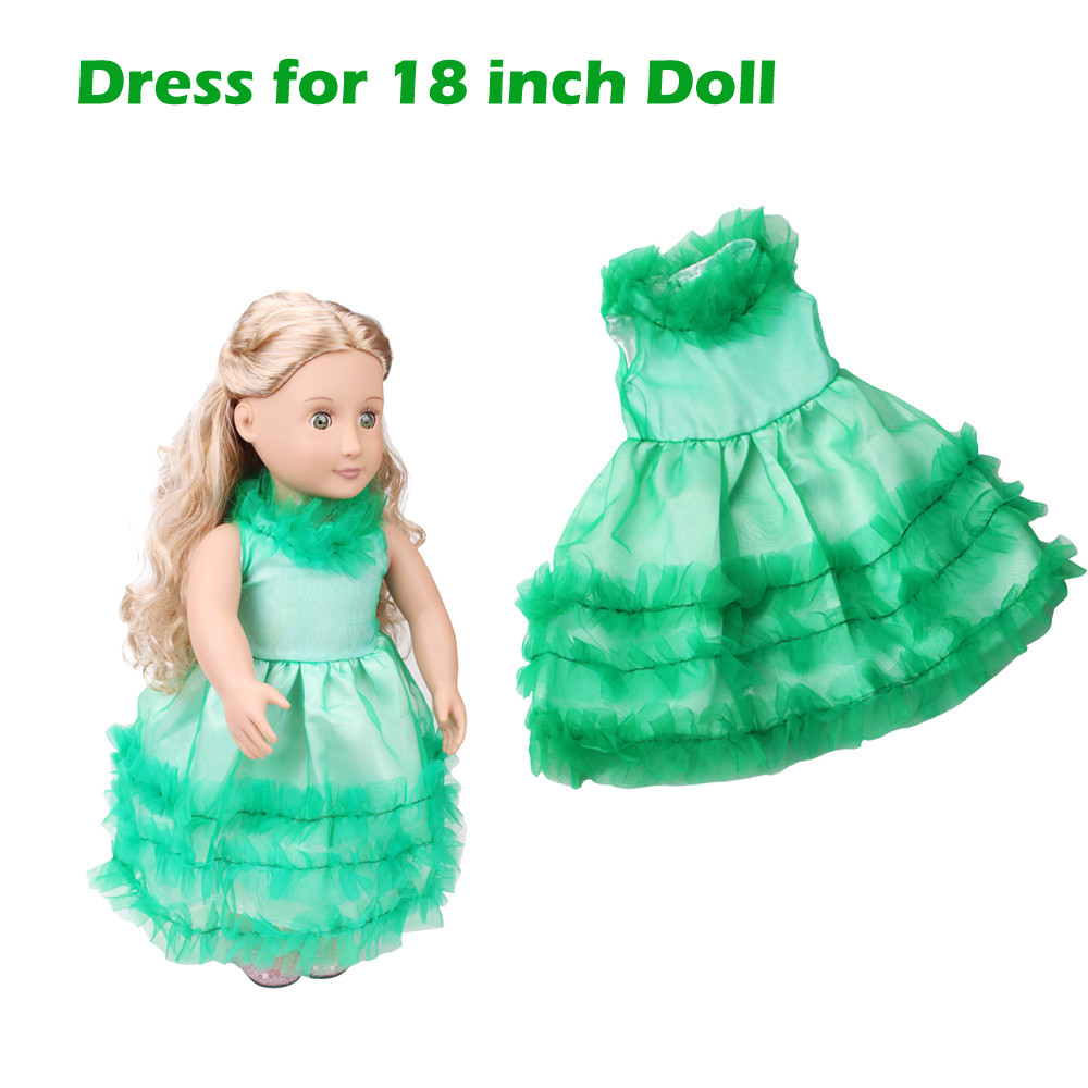 Summer Clothes Dress Skirt For 18 Inch American Girl Doll Accessory Girl's Toy