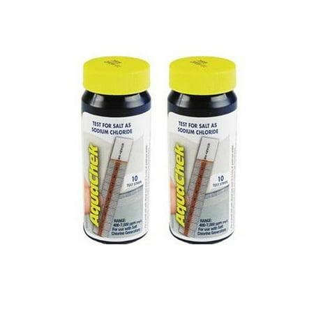 - AQUACHEK White Swimming Pool Spa Test Strips Salt - Two Pack