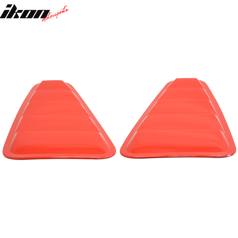 Fits 2005-2009 Mustang Side Scoops Both sides Painted Colorado Red D3