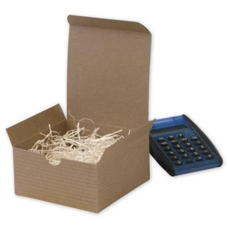 Deluxe Small Business Sales 250-040402C-8 2 x 4 x 4 in. One-Piece Gift Boxes, Kraft](Small Gift Box)