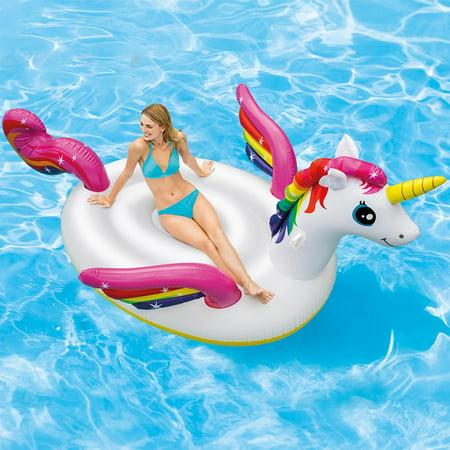 Intex Inflatable Mega Unicorn Island Float, 113