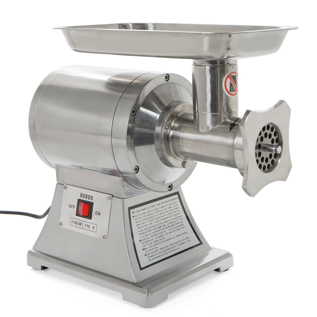 450LB Commercial Stainless Steel Meat Grinder FDA, with Plate