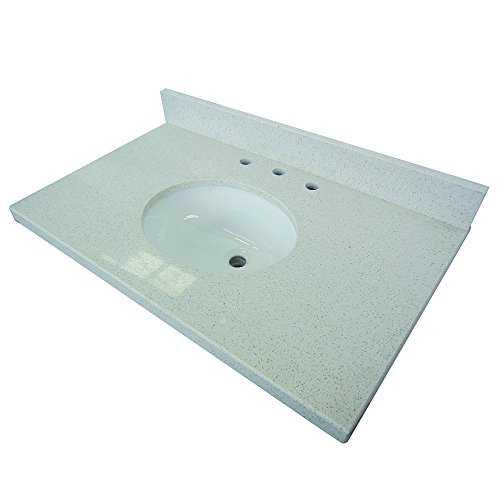 Kingston Fauceture KVPB3022M38 White Quartz Vanity with T...