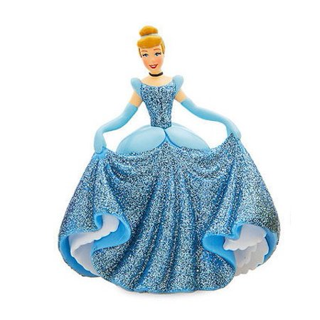 Disney Cinderella in Ballgown PVC Figure [Glitter] [No Packaging]