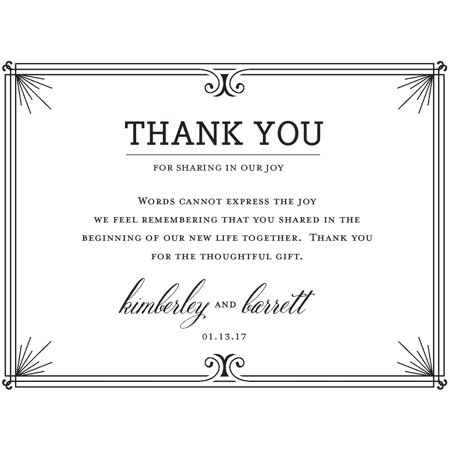 formal line standard thank you card