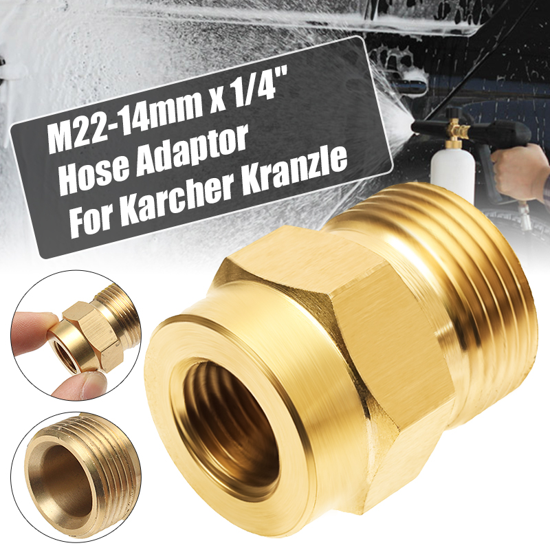 """1//4/"""" Male X 1//4/"""" male Pressure Washer Hose Outlet Adaptor For Karcher etc"""
