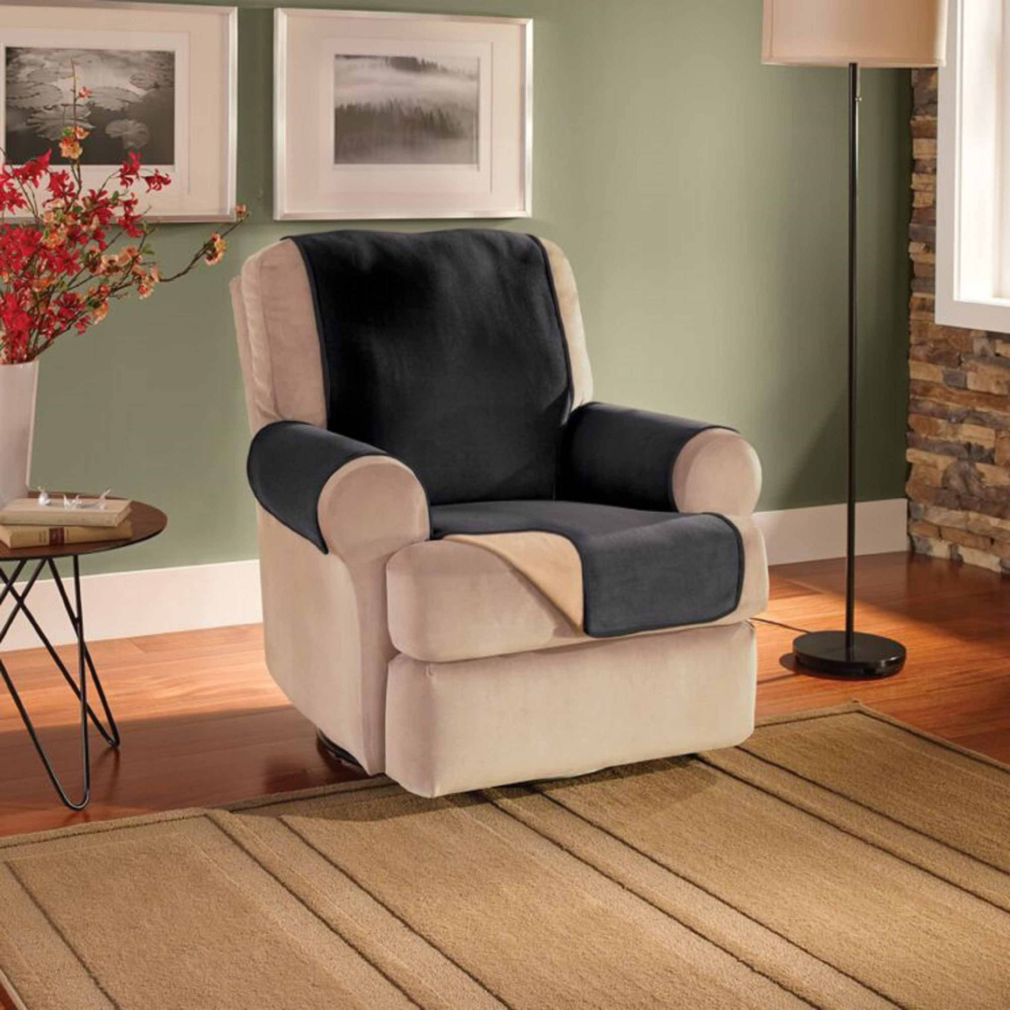 Innovative Textile Solutions Waterproof Reversible Fleece Recliner or Wing Chair Protector