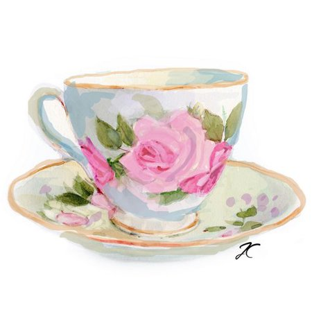Marmont Hill Teacup By Art Rose Framed Painting Print