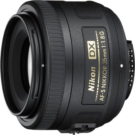 Refurbished Nikon 35mm f/1.8G AF S DX Lens for Nikon Digital SLR Cameras ()