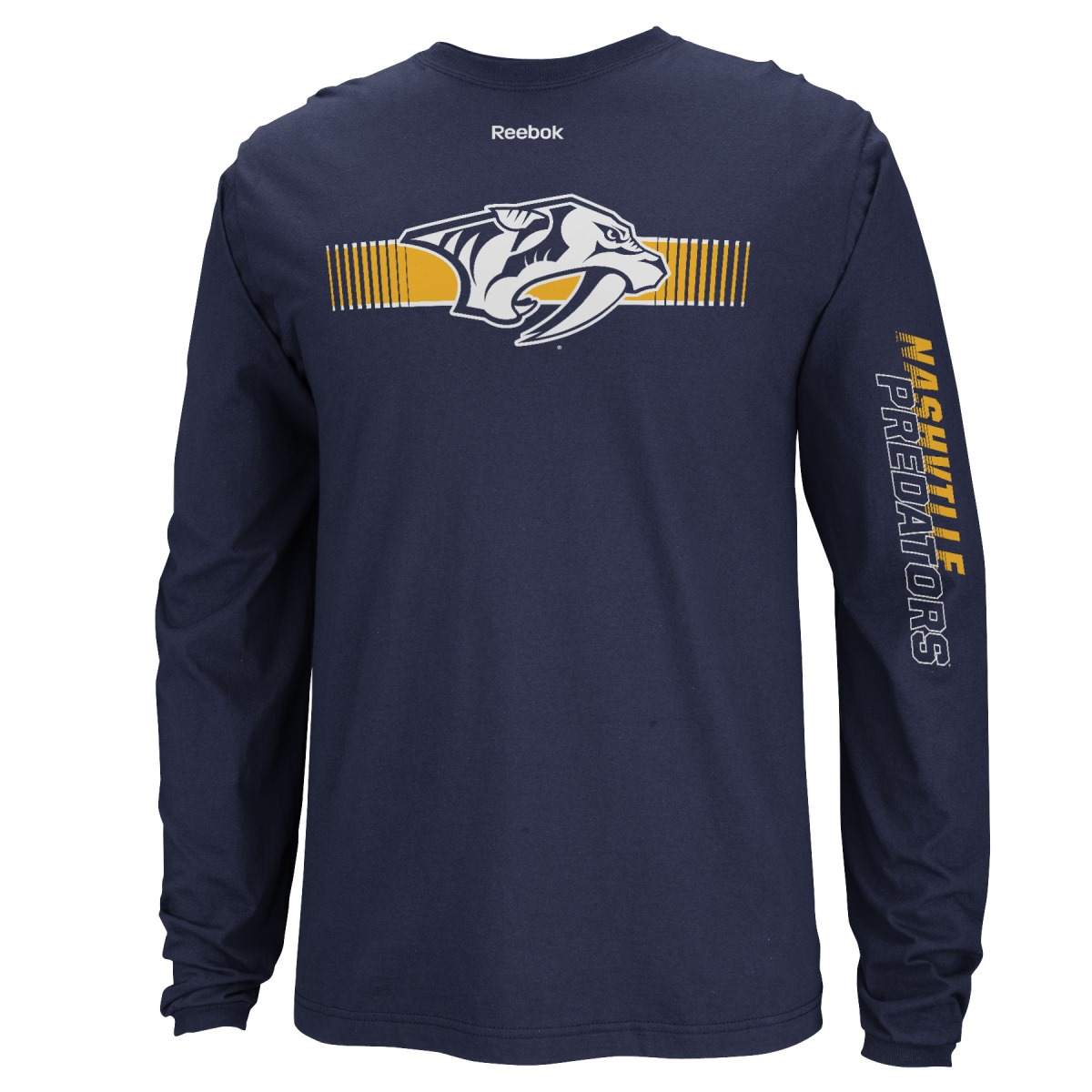 "Nashville Predators Reebok NHL ""Blinder"" Long Sleeve Men's T-Shirt"